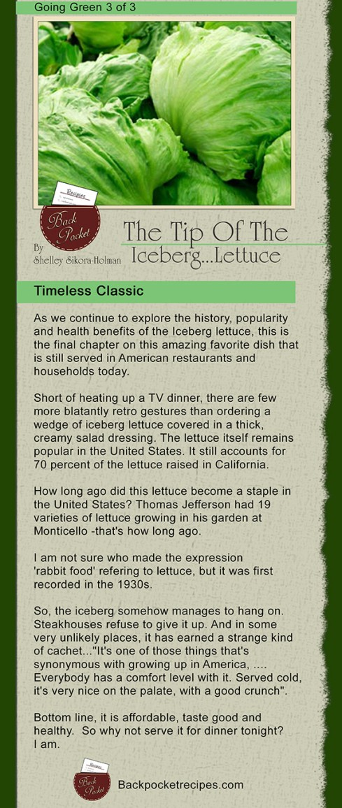 Tip of the iceberg...lettuce   3 of 3